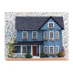 Vintage Dollhouse Cottage / Cabin Double Sided Puzzle
