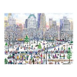 Michael Storrings Winter in Central Park Magazines and Newspapers Jigsaw Puzzle