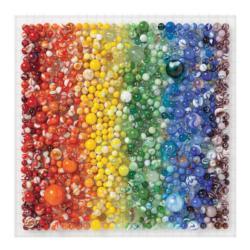 Rainbow Marbles Pattern / Assortment Jigsaw Puzzle