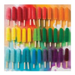 Rainbow Popsicles Pattern / Assortment Jigsaw Puzzle