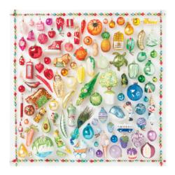Rainbow Ornaments Pattern / Assortment Jigsaw Puzzle