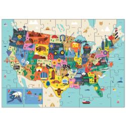 Map of the U.S.A. Maps / Geography Jigsaw Puzzle