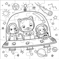 Outer Space Space Coloring Book