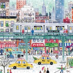 New York City Subway Christmas Jigsaw Puzzle