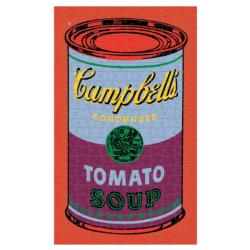 Andy Warhol Soup Can Red Violet Family Fun Jigsaw Puzzle