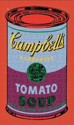 Andy Warhol Soup Can Red Violet Contemporary & Modern Art Jigsaw Puzzle