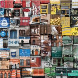 New York In Color Collage Impossible Puzzle