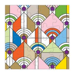 Frank Lloyd Wright Party Puzzle Set Contemporary & Modern Art Jigsaw Puzzle