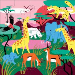 Safari Animals Jungle Animals Children's Puzzles