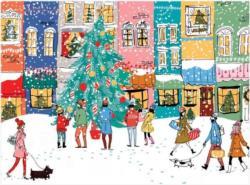 Christmas Carolers Snow Jigsaw Puzzle