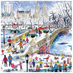 Bow Bridge in Central Park New York Jigsaw Puzzle