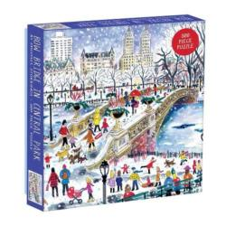Bow Bridge in Central Park New Year's Eve Jigsaw Puzzle