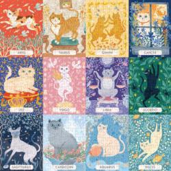 Cat Zodiac Collage Jigsaw Puzzle