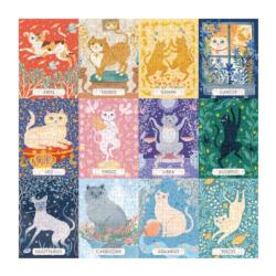 Cat Zodiac Collage Jigsaw Puzzle