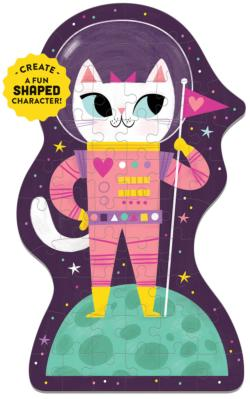 Space Cat Graphics / Illustration Children's Puzzles