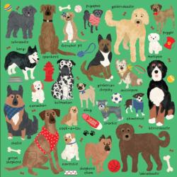 Doodle Dogs Dogs Jigsaw Puzzle