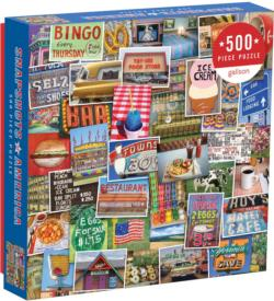 Snapshots of America Collage Jigsaw Puzzle
