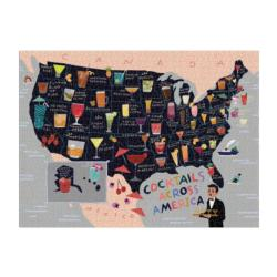 Cocktail Map USA Food and Drink Jigsaw Puzzle