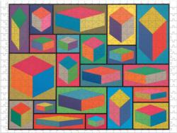 MoMA Sol Lewitt Contemporary & Modern Art Double Sided Puzzle