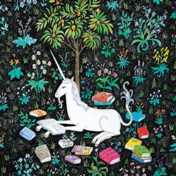 Unicorn Reading Unicorns Jigsaw Puzzle