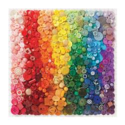 Rainbow Buttons Abstract Impossible Puzzle