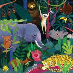 Jungle Illuminated Animals Jigsaw Puzzle