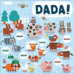 Jimmy Fallon Your Baby's First Word Will Be Dada Jumbo Animals Children's Puzzles