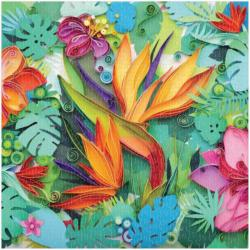 Paper Paradise Flowers Jigsaw Puzzle