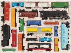 Vintage Toy Trains Nostalgic / Retro Jigsaw Puzzle