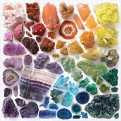 Rainbow Crystals Pattern / Assortment Jigsaw Puzzle
