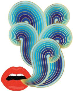 Jonathan Adler Lips Abstract Impossible Puzzle