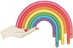 Jonathan Adler Rainbow Hand Abstract Jigsaw Puzzle