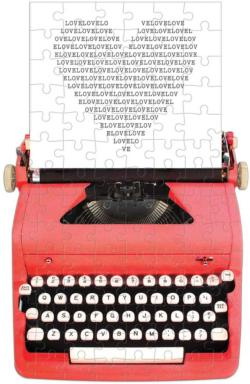Just My Type Vintage Typewriter Nostalgic / Retro Jigsaw Puzzle