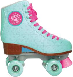 Let The Good Times Roll Roller Skate Nostalgic / Retro Miniature Puzzle