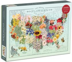 Wendy Gold USA State Flowers - Scratch and Dent United States Jigsaw Puzzle