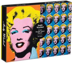 Warhol Marilyn Famous People Double Sided Puzzle