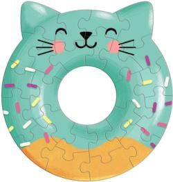 Cat Donut Sweets Miniature Puzzle