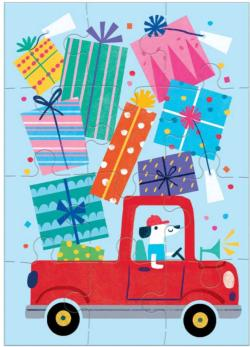 Birthday Truck Greeting Card Puzzle Cars Jigsaw Puzzle
