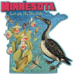 Wendy Gold Minnesota (Mini) United States Miniature Puzzle