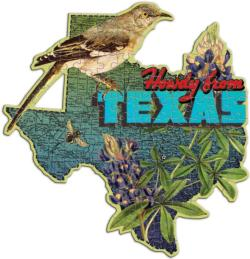 Wendy Gold Texas United States Miniature Puzzle