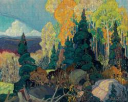 Autumn Hillside Nature Jigsaw Puzzle