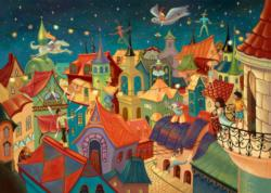 Circus Above The City Cartoons Children's Puzzles