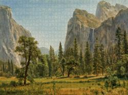 Bridal Veil Falls, Yosemite Contemporary & Modern Art Jigsaw Puzzle