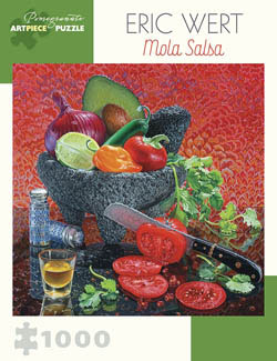 Mola Salsa Contemporary & Modern Art Jigsaw Puzzle