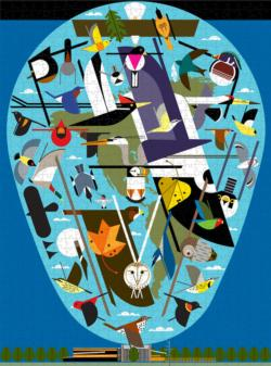 The World of Birds Abstract Jigsaw Puzzle