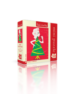 Miss Christmas (Mini) Contemporary & Modern Art Jigsaw Puzzle