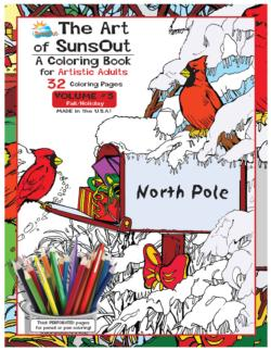 The Art of SunsOut Coloring Books: Volume 3 Snow Coloring Book