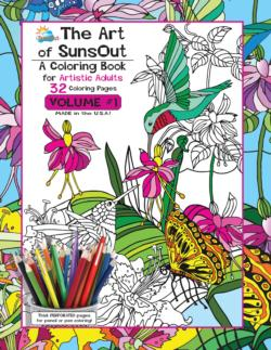 The Art of SunsOut Coloring Books: Volume 1 Garden Coloring Book