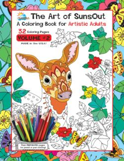 The Art of SunsOut Coloring Books: Volume 2 Flowers Coloring Book