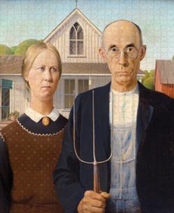 American Gothic Farm Jigsaw Puzzle
